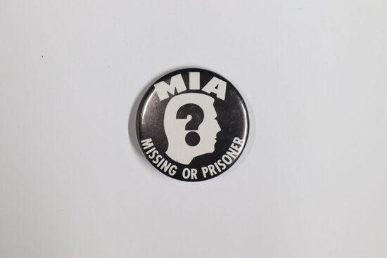 1960's Vietnam MIA Prisoner Pin-Back