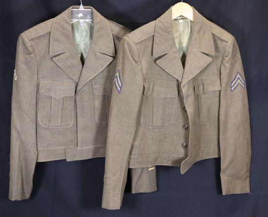 "(2) Korean War dated US Army ""Ike"" Jackets"