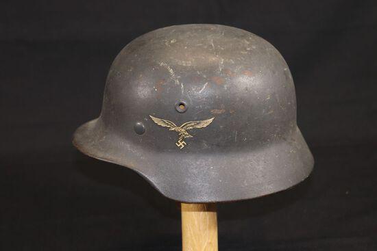 WWII German M40 Luftwaffe Helmet w/Liner