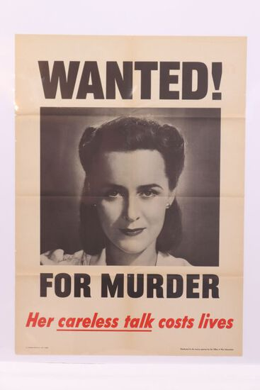 WWII War Bonds Poster/Wanted for Murder!