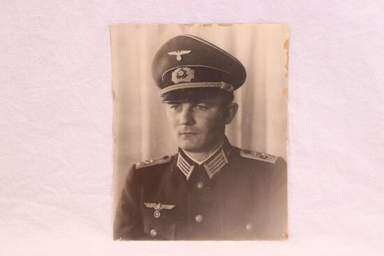 WWII Nazi Germany Large Officer Photo