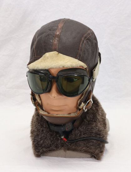 WWII U.S. Aviation Pilot Helmet