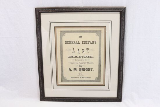 Rare!  Custer's Last March Sheet Music