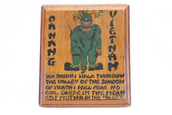Excellent Vietnam Era Barracks Wall Plaque