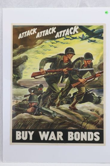 WWII War Bonds Poster/Warren Artwork!
