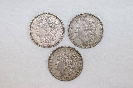 Group of (3) Morgan Silver Dollars