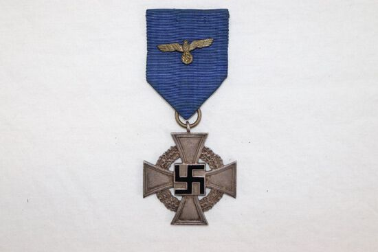 WWII Nazi 25 Year Faithful Service Cross