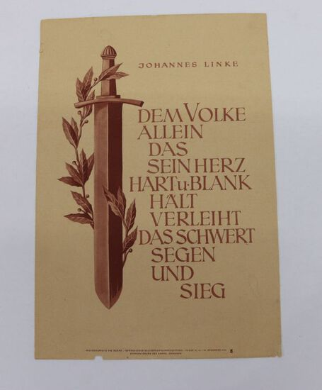 1942 NSDAP Nazi Propaganda Poster