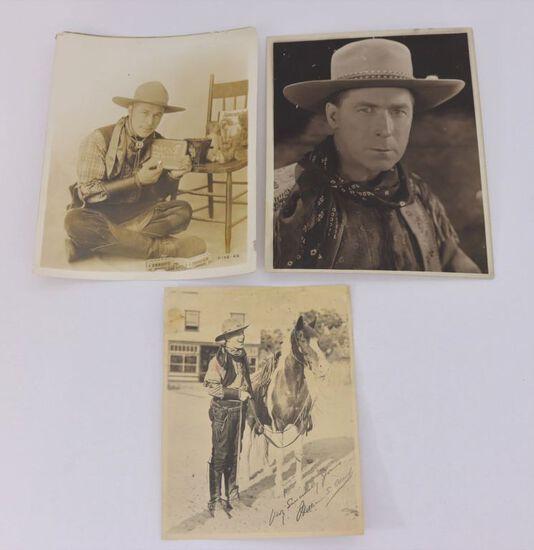 (3) Photos of Silent Movie Star Wm. S. Hart