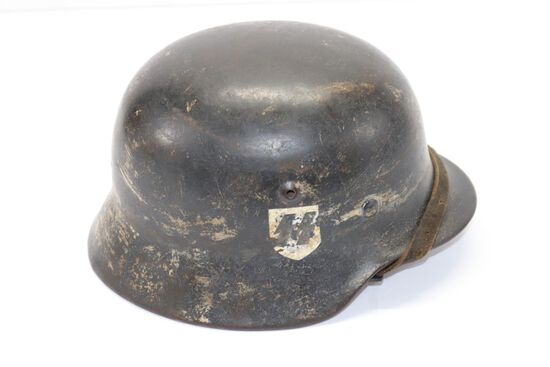 WWII Nazi SS M40 Helmet w/liner and chinstrap