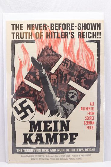 "1960 Hitler ""Mein Kampf"" 1-Sheet Poster"