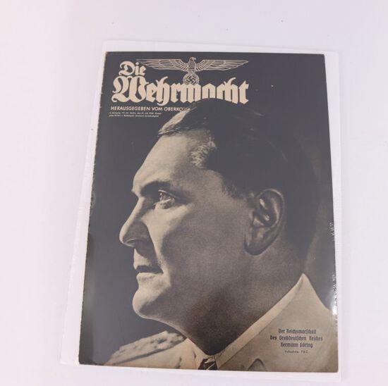 """July 1940 """"Die Wehrmacht"""" Nazi Magazine"""