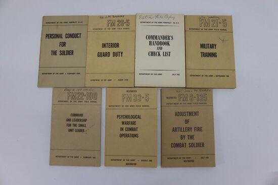 7 Korean War US Army Tech/Field Manuals