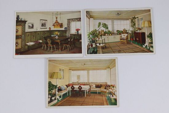 3 Color Nazi Postcards of Haus Wachenfeld