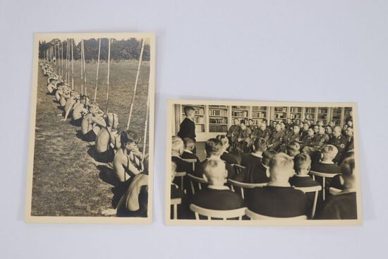 (2) Nazi Hitler Youth Boys Postcards