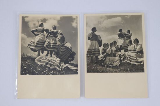 (2) Nazi Bauernmadeln Postcards