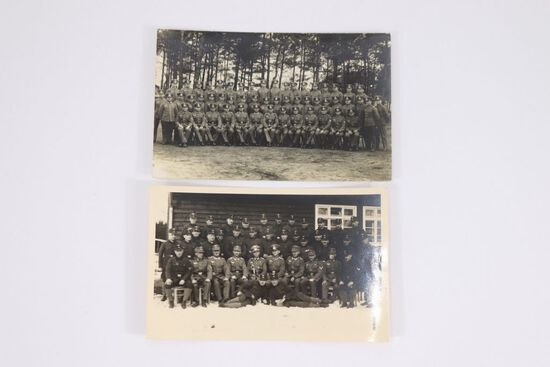 (2) Nazi Wehrmacht RPPC/PC Unit Photos