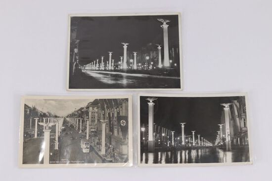 (3) Nazi Postcards of the Linden in Berlin