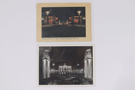 (2) Nazi Postcards of the Linden in Berlin