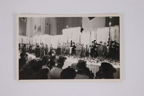 Nazi RPPC/Postcard of Party Banquet