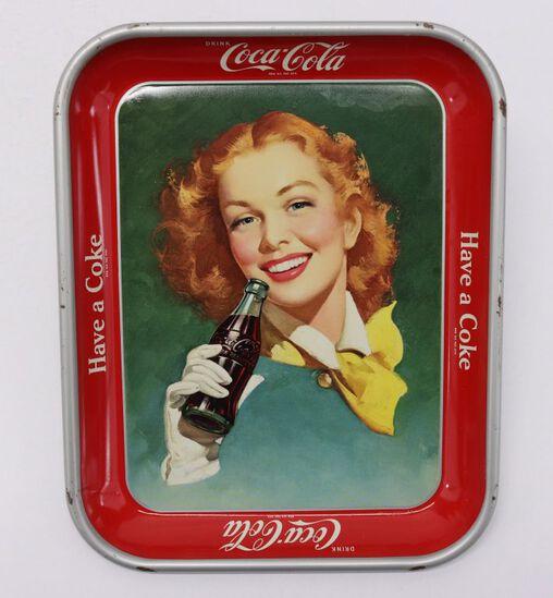 1950's Coca-Cola Advertising Metal Tray