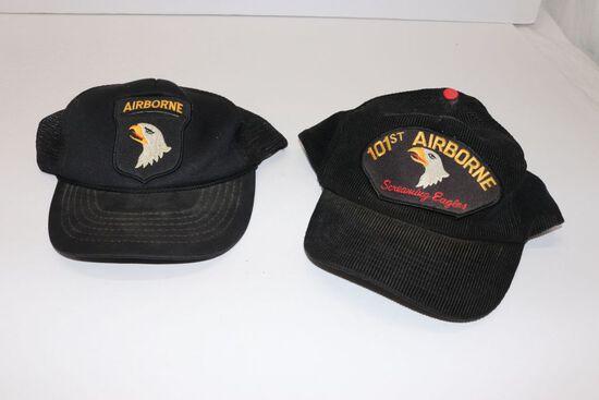 (2) 101st Airborne Div. Vet's Baseball Caps