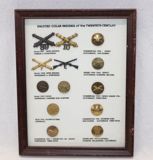 U.S. Military Collar Insignia Display