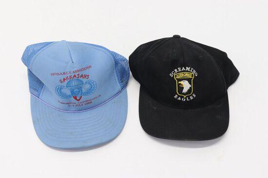 Vet's Baseball Caps-101st A/B & Rakkasans