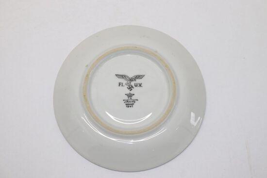 WWII Nazi Luftwaffe Porcelain Saucer