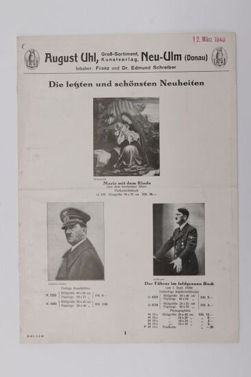 1940 Nazi Hitler and Artwork Print Catalog