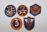 (5) WWII AAF/Army Air Corps Patches