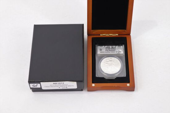2010 Silver Eagle First Release ANACS - MS70