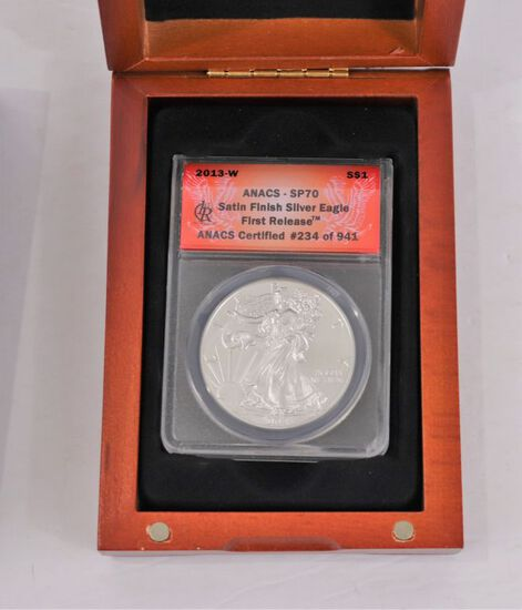 2013-W Silver Eagle First Release ANACS - SP70