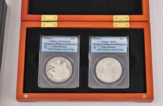 2010 Boy Scouts Commemorative 2-coin Set
