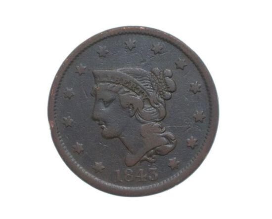 1843 Large Cent
