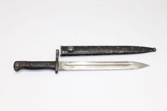 Model 1895 Chilean Mauser Bayonet w/Scabbard