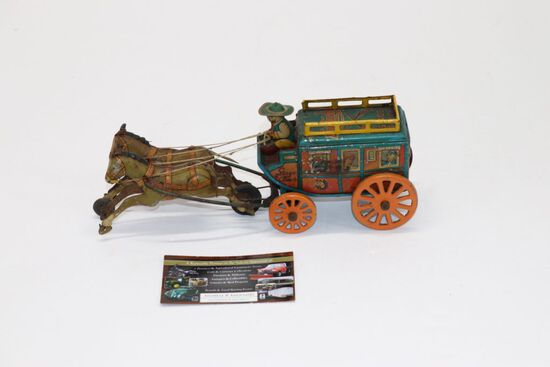 1950's Tin Litho Friction Kentucky Stage Coach