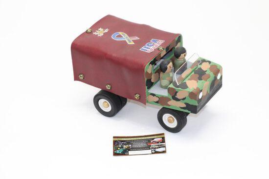 Handmade Military Truck Wood Toy