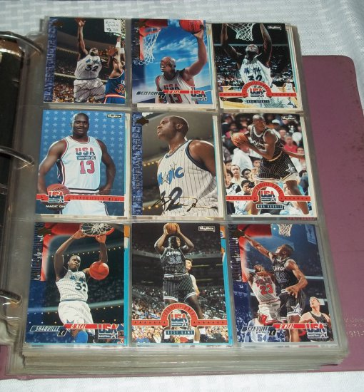 Huge Basketball Card Album Loaded W Stats Hofers Jordan