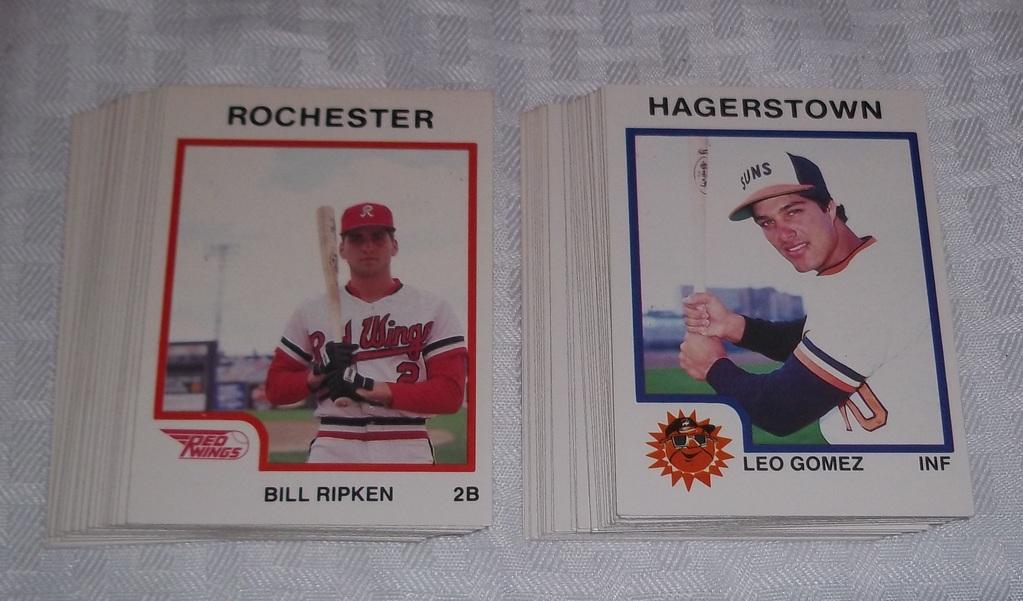 Lot 1987 Hagerstown Rochester Minor League Baseball Card Sets