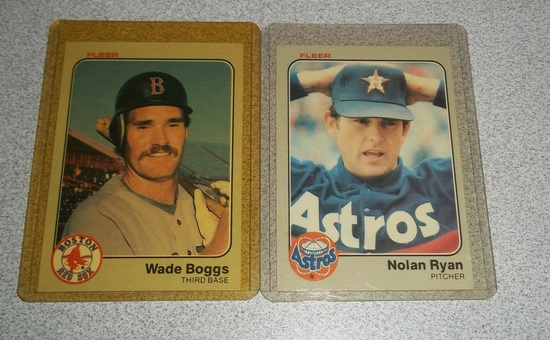 1983 Fleer Baseball Pair Wade Boggs Rookie Card Rc W Nolan