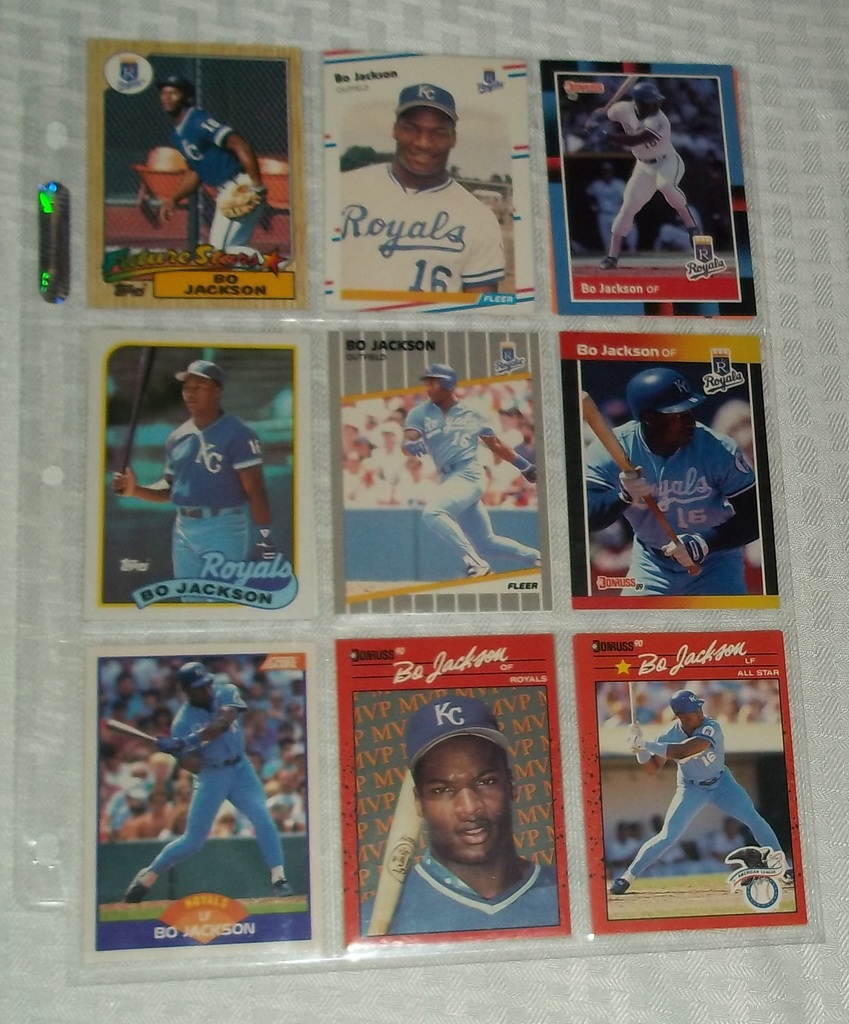Lot 17 Different Bo Jackson Baseball Cards Royals W Rookie
