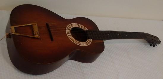 Vintage Homemade Garage Project Art Wooden Acoustic Guitar
