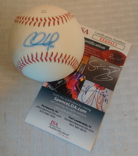 Phillies Chase Utley Autographed Signed Minor League Rawlings Baseball JSA COA