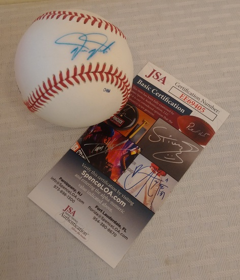 Phillies Darren Daulton Autographed Signed Minor League Rawlings Baseball JSA COA