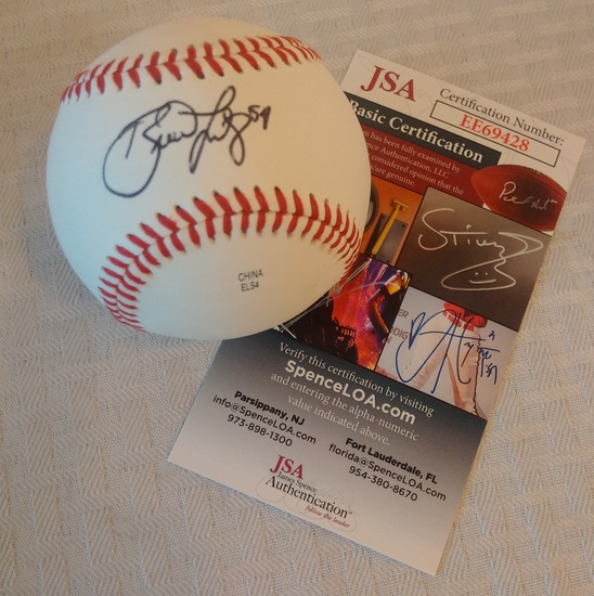 Phillies Brad Lidge Autographed Signed Minor League Rawlings Baseball JSA COA