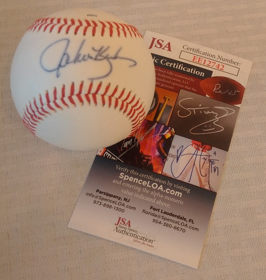 Phillies John Kruk Autographed Signed Minor League Rawlings Baseball JSA COA