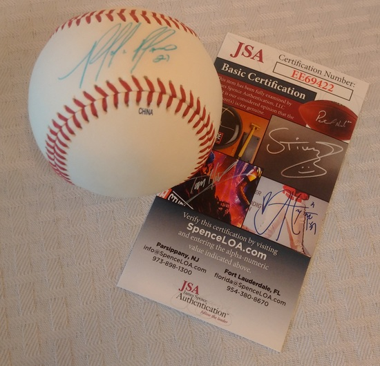 Phillies Placido Polanco Autographed Signed Minor League Rawlings Baseball JSA COA