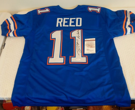 Jordan Reed Autographed Signed Florida Football Jersey XL JSA COA Redskins NFL