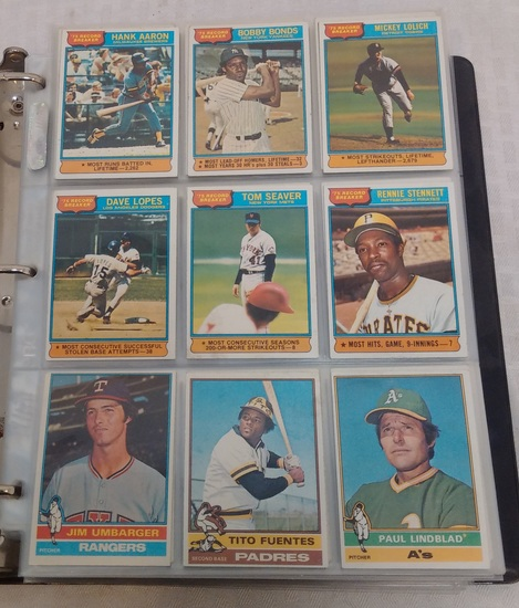 Vintage 1976 Topps Baseball Card Complete Set w/ Traded Stars Rookies HOFers EX-MT In Album